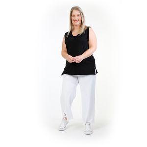 AKH Fashion Basic Shirt, Top, ärmellos, One Size (Einheitsgröße), Lagenlook, Oversize