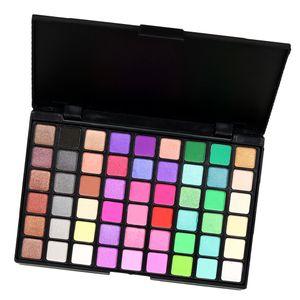 54 farben kosmetische pulver matt schimmer lidschatten palette rauchige augen make-up Farbe 2