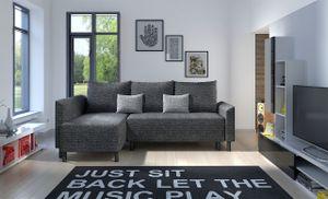 Mirjan24 Ecksofa Brest, L-Form Polsterecke, Eckcouch mit Bettkasten und Schlaffunktion, Stilvoll Wohnzimmer (Farbe: Lawa 06 + Lawa 05)