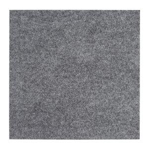 Teppichfliesen Grau 50 Fliesen Selbstklebend 40 x 40 cm Teppichboden Bodenbelag Nadelfilz Fliese