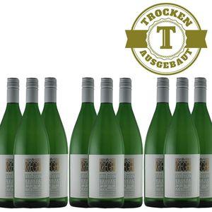 Weißwein Pfalz Weißburgunder Weingut Krieger Rhodter Ordensgut trocken (9 x 1,0L )