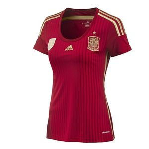 adidas FEF Spanien Heim Trikot Damen WM 2014, Damen Größen:L