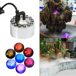 LED Aquarium Teich Brunnen Bunt Nebelmaschine Luftbefeuchter Zerstäuber Mist Maker