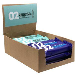 Rawmygod Keto-Box Probierpaket Low Sugar 12 x 40g (480g) Ketogene Vegane Riegel