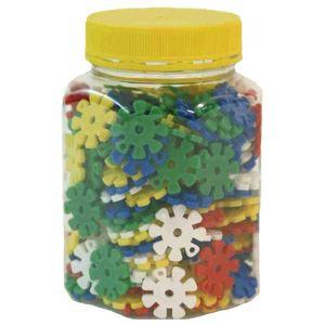 EDUPLAY 120-013 Steckblumen in Kunststoffglas, bunt, 170-teilig (1 Set)