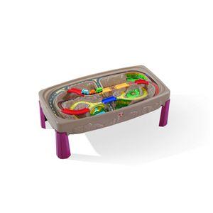 Step2 Deluxe Grand Canyon Spieltisch mit Rennbahn und Zug Set | Spieltisch für Kinder aus Kunststoff