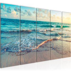 Meer Strand BILD 200x80 cm − FOTOGRAFIE AUF VLIES LEINWANDBILD XXL DEKORATION WANDBILDER MODERN KUNSTDRUCK MEHRTEILIG 015555a