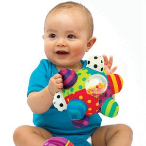 Bunt Rasseln Baby-holperiger Ball, Babyspielzeug zur Förderung der motorischen Fähigkeiten, Ab 6 Monaten