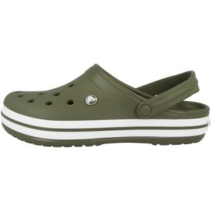 Crocs Crocband Clogs army green/white Schuhgröße EU 45-46