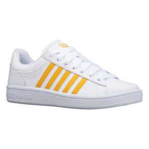 K-SWISS Court Winston Damen Sneaker Sportschuh 96154-119-M White/Gold, Schuhgröße:38 EU