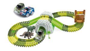 Magic Traxx Dino-Park mit Tunnel 374-teilig,Mega Set