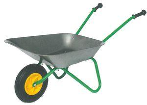 Schubkarre Metall  mit Luftbereifung - Kinderschubkarre