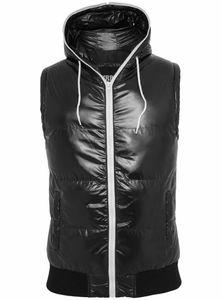 Urban Classics Hooded Bubble Vest, Größe: L; Farbe: Black/White