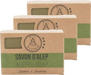 ALEPEO Aleppo Olivenölseife mit Jasminduft 100 g 3er Pack