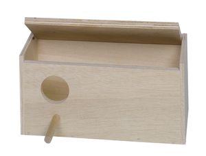 Nobby Wellensittich Nistkasten 28,5 x 14,0 x 14,0 cm, Loch links