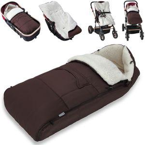 Monzana Baby Fußsack Babyfußsack Kinderwagen Winterfußsack Babyschale Babydecke Waschbar, Farbe:braun