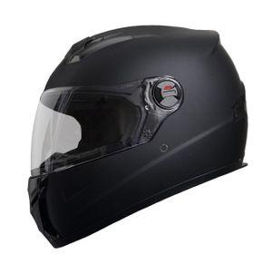Motorradhelm Integralhelm M61 Helm Größe XL Rollerhelm Sturzhelm matt schwarz Visier klar