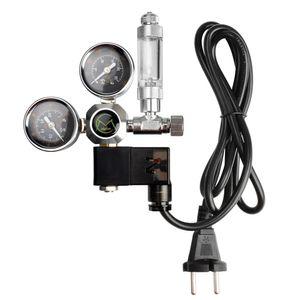 Rückschlagventil des CO2 Druckminderer Rückschlagventils Aquarium Magnetventil Doppel Manometer Druckminderer für Gartenschlauch
