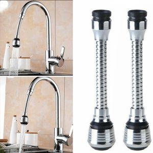 2pcs Küchenarmatur Wasserhahn Küche Drehbarer Wasserhahn Spritzkopf Erweiterung Gerät Wasserhahnverlängerung Spüle