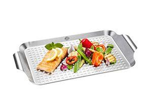 GEFU BBQ Grillschale flach Edelstahl für Pfannengerichte vom Grill