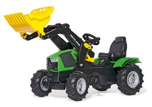 rolly toys Farmtrac Deutz-Fahr 5120 Trettraktor mit Trac Lader, Maße: 142x53x81 cm; 61 121 8