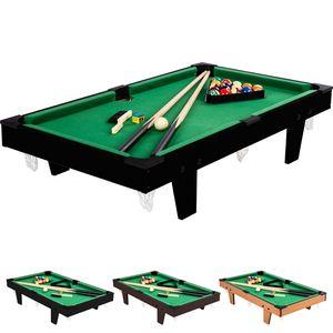 Mini Billardtisch + Zubehör, 92x52x19cm Pool Billiard
