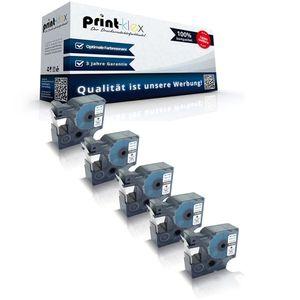 5x Kompatible Schriftbänder für Dymo 45803 Labelmanager 420P 450 450D 450Series 500TS PC PC2 S0720830 19mm Schwarz - Weiss Etikettierband - Color Quantum Serie