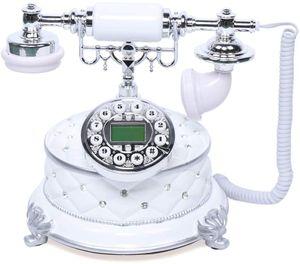 Retro Telefon Schnurgebundene Festnetztelefone Vintage Nostalgietelefon mit Caller ID LCD Display,Wählscheibe und Metallklingel
