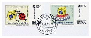 FDC mit 4+7-Cent-Briefmarken, 13.02.2015, ungel. M-ware® ID15593