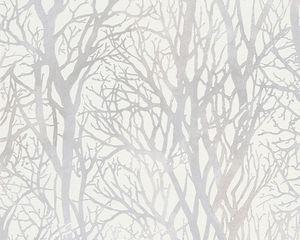A.S. Création Vliestapete Life 4 Tapete metallic weiß 10,05 m x 0,53 m 300941 30094-1