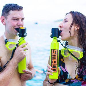 SMACO S300+  Pro Tauchboot Tauchen Sauerstoff Tauchausrüstung 0.5L Sauerstoffflasche Unterwasseratemgerät & Tasche  Scuba Diving Mini Tauchflasche Tragbare Tauchersets Inflator Pump