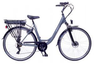 Amigo E-Active - Elektrofahrrad für Damen - E-bike 28 Zoll - Damenfahrrad mit Shimano 7-Gang - Grau