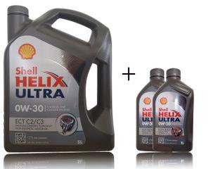 Shell Helix Ultra ECT C2 / C3 0W-30 1x5+2x1 Liter