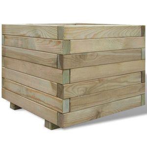 dereoir Pflanzkasten 50 x 50 x 40 cm Holz Quadratisch