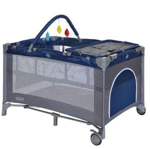 Kinderreisebett Klappbett Laufstall Reisebett Babybett Faltmatratze Einlage Blau