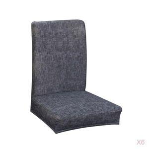6 Stück Weiche Elastische Stretch Stuhlhussen Stuhlbezug Sitz Schutz