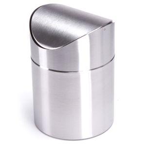 MSV Tischmülleimer Tischabfalleimer Abfallbehälter Küchen Abfalleimer Kosmetikeimer Edelstahl Schwingdeckel Maße (ØxH): 12 x 16,5 cm