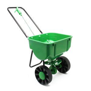 Streuwagen 25kg mit Kunststoffreifen für Dünger Saatgut Streusalz Lava
