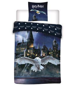 Biber / Flanell Harry Potter Wende Bettwäsche Set 135x200 80x80 Winterbettwäsche Hogwarts Eule Hedwig