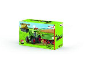 Schleich - Tierfiguren, Traktor mit Anhänger; 42379