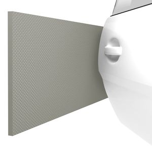 ATHLON TOOLS 2x FlexProtect Garagen-Wandschutz - Klimaneutral - je 2 m lang - Extra Dicker Auto-Türkantenschutz, Selbstklebend, Wasserabweisend (grau)