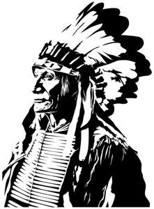 Wandtattoo Indianer Western Indian Mann Häuptling Aufkleber Wandaufkleber Autoaufkleber Turaufkleber WC Tur Bad Auto 5A059, Farbe:Königsblau Matt, Hohe:70cm