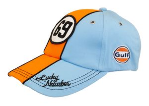 Gulf - Vintage Cap - Lucky Number 69 - Strapback - OSFA - Eisblau