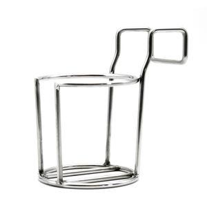 intergrill Strandkorb Zubehör Getränke-Flaschen-Tassenhalter Edelstahl 8cm Durchmesser