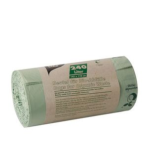 10 Papstar Kompostbeutel,Folie 240 l 145 cm x 110 cm grün 87665