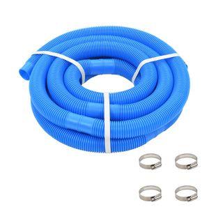 vidaXL Poolschlauch mit Klammern Blau 38 mm 6 m
