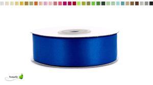 Satinband 25mm, 20 Meter - Doppelseitig, Farbauswahl:blau 352 / königsblau / royalblau