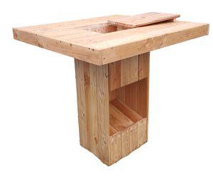 Biertisch Stehtisch Bistrotisch Partytisch aus massivem Lärchenholz