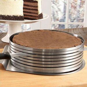 Tortenring Verstellbar Kuchenringe für DIY Kochen, Backen, Kuchen, Gebäck Silber 6-8 Zoll