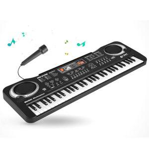 Kinder Klavier , Multifunktions 61key  Piano,Elektronische Orgel Musik,Elektronische Karaoke,Tastatur Mikrofon Schwarz